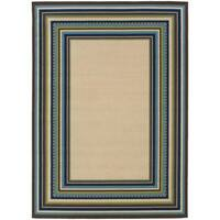"Laurel Creek Oswin Ivory/Blue Indoor-Outdoor Area Rug - 5'3"" x 7'6"""