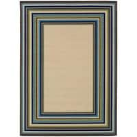 Laurel Creek Nellie Border Area Rug  - 6'7 x 9'6