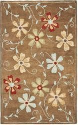 Hand Tufted Blossom Blue Floral Wool Rug 5 X 7 9