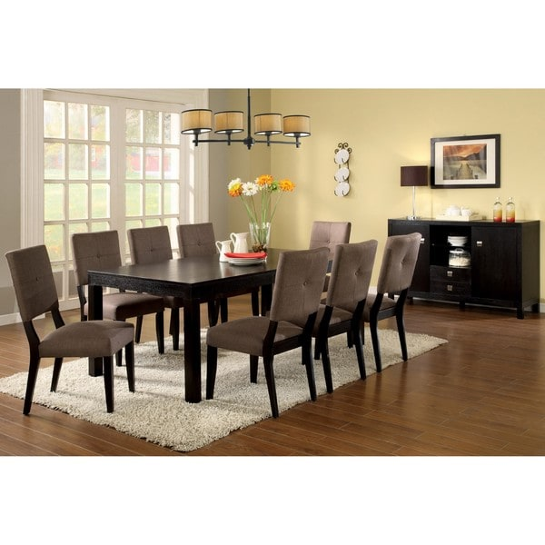 Tribecca Home Acton Warm Merlot X Back Casual Dining Side: Furniture Of America Bayside Dining Table And Server Set