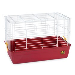 Prevue Animal Tubby Extra-small Red Plastic Pet Cage with Wire Mesh
