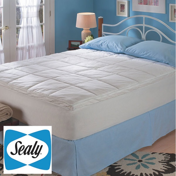 sealy 2 inch latex topper with zip cover queen king cal king size 13883534. Black Bedroom Furniture Sets. Home Design Ideas