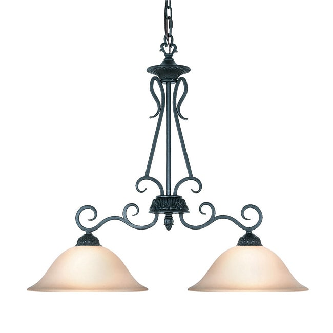 Woodbridge Lighting Jamestown 2-light Textured Black