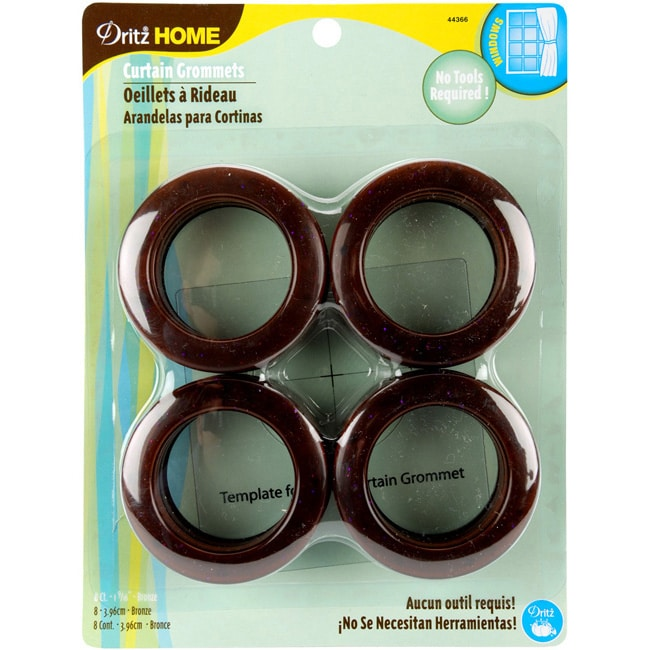 Dritz Bronze Colored Plastic Curtain Grommets Pack Of