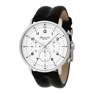 Kenneth Cole Men S New York Leather Strap Chronograph