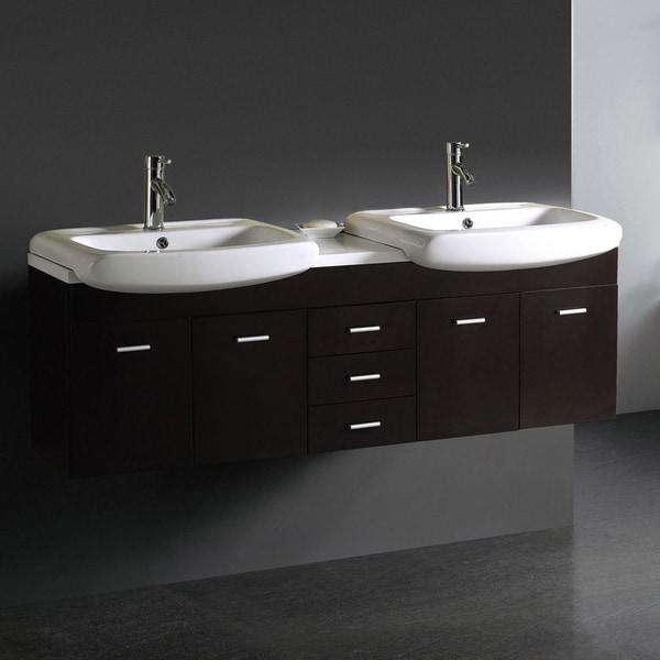 Vigo 59 Inch Double Bathroom Vanity 13911061 Overstock