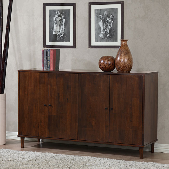 Dining Room Buffet Cabinet: Vilas Tobacco Finished 4 Door Dining Buffet Storage