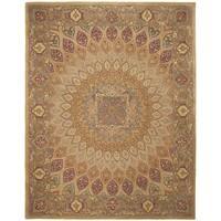 Safavieh Handmade Heritage Timeless Traditional Light Brown/ Grey Wool Rug - 7'6 x 9'6