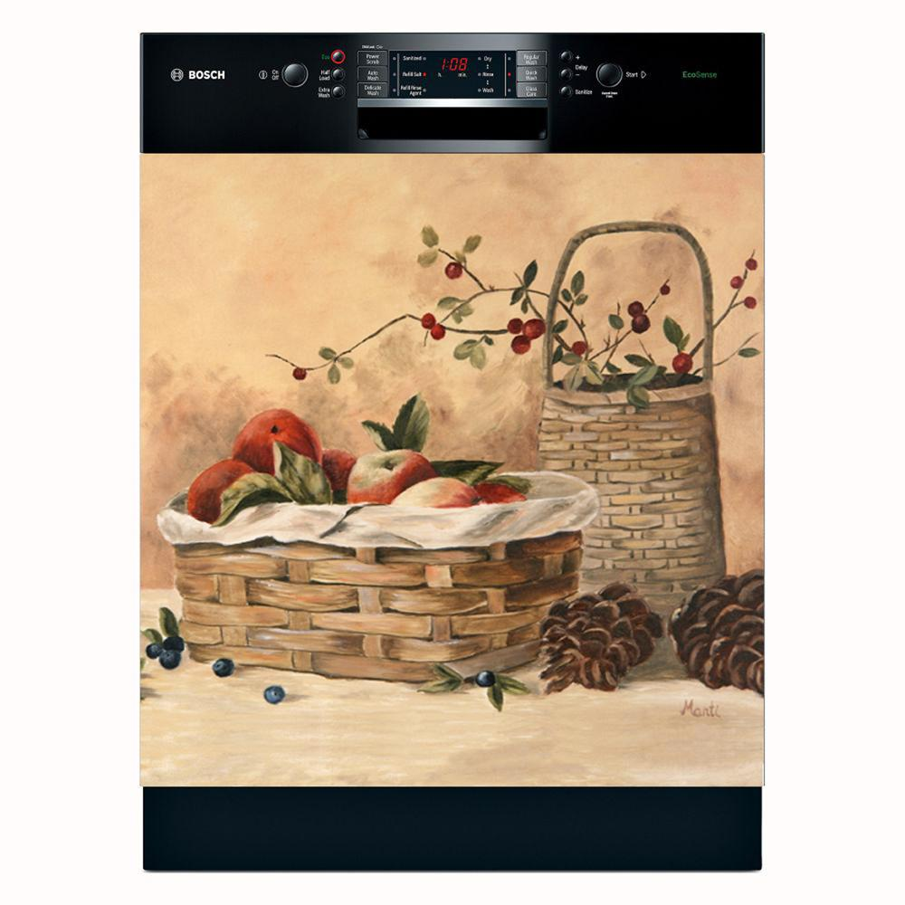 Kitchen Aid Refrigerator Appliance Art 'Apples and Berries' Dishwasher Cover ...