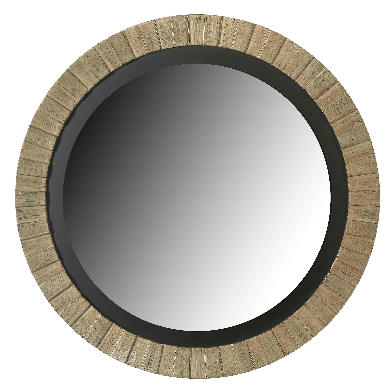 Overstock Mirrors: Glades Round Antique Silver Wall Mirror