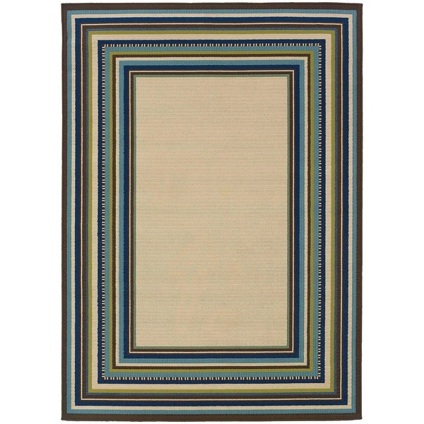 Laurel Creek Nellie Border Area Rug - 8'6 x 13'