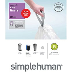 Simplehuman Custom Fit 8 Gallon Trash Can Liners Pack Of 50