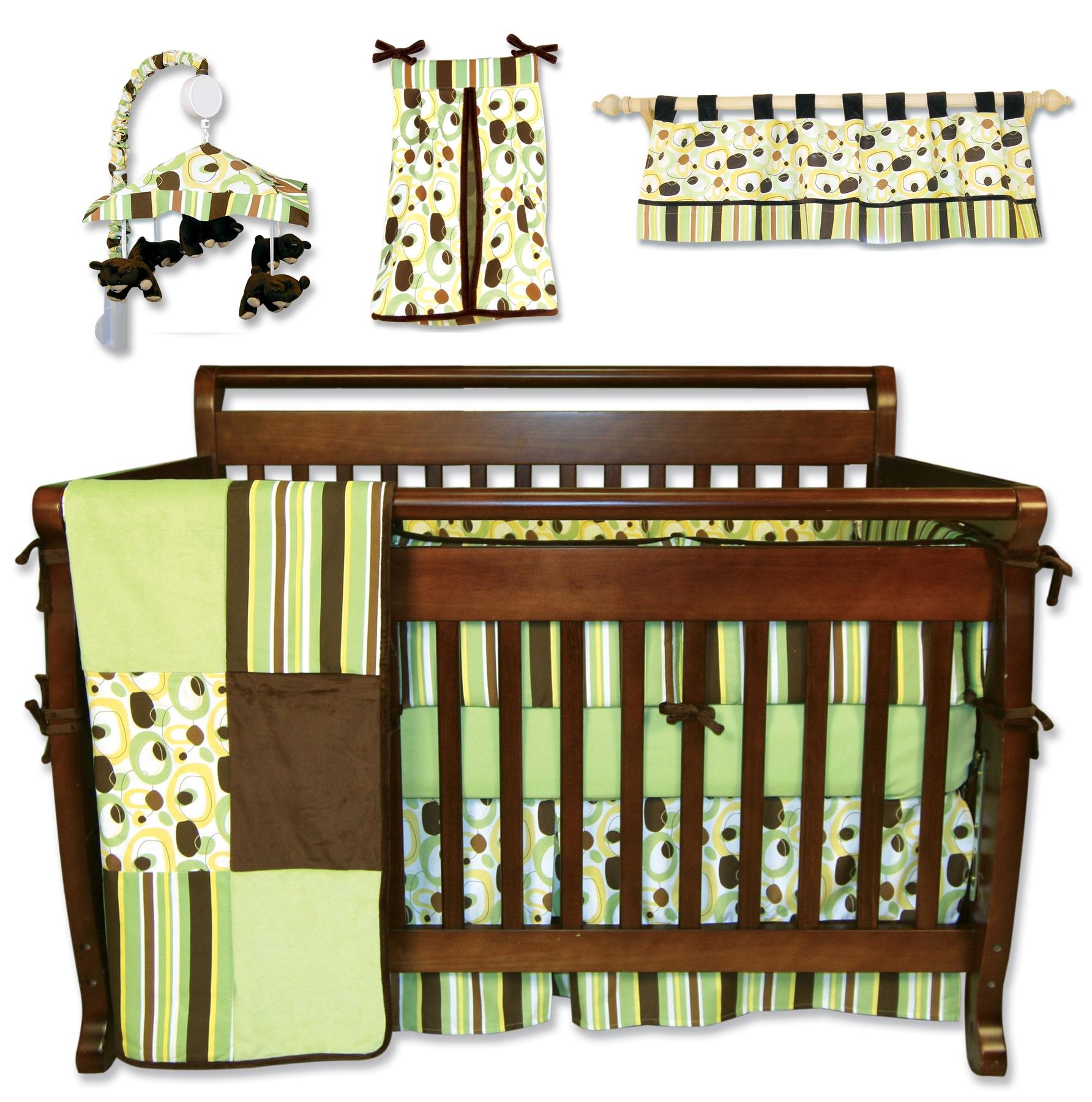 Trend Lab 7 Piece Giggles Crib Bedding Set 13933953