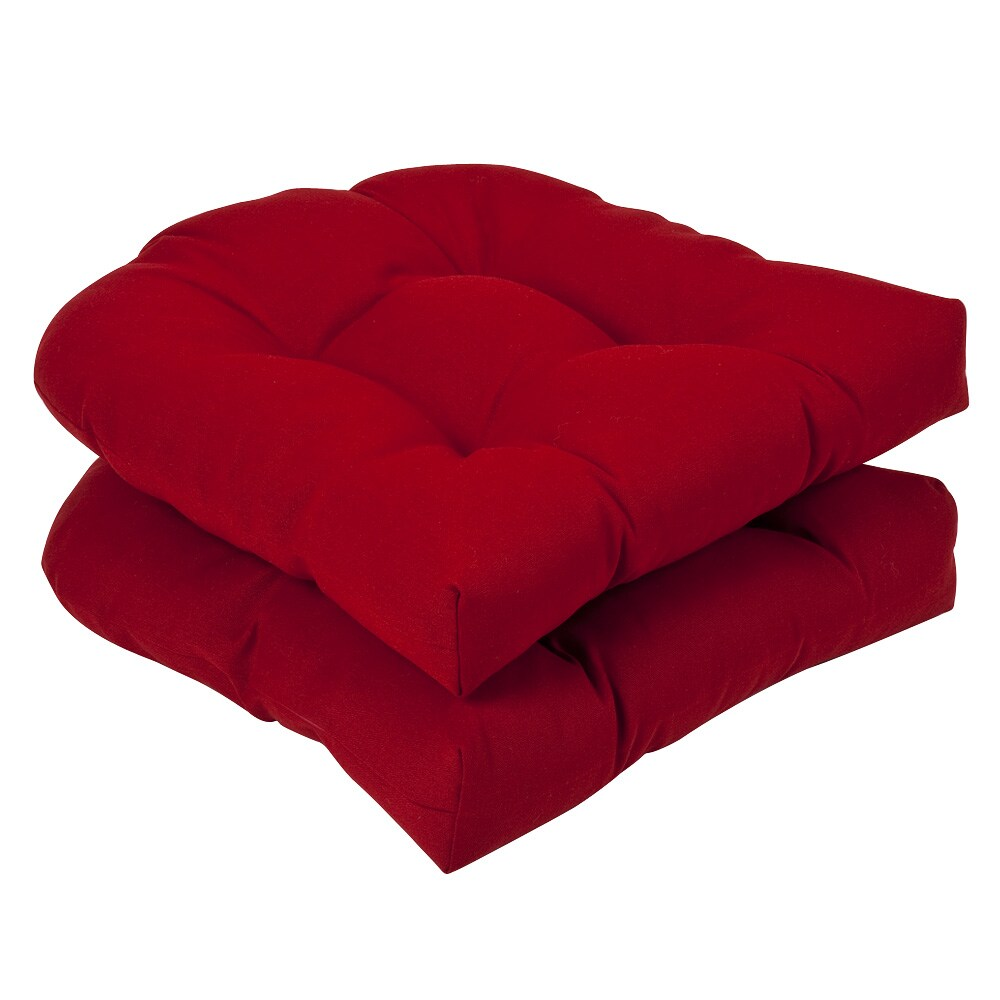 Costco Club Chair Pillow Perfect Outdoor Red Seat Cushions (Set of 2)