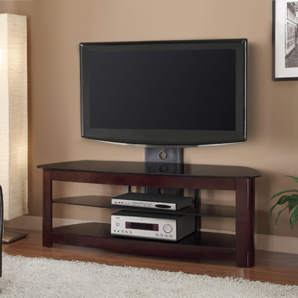 espresso finish 60 inch tv stand with removable mount 13938637 shopping. Black Bedroom Furniture Sets. Home Design Ideas