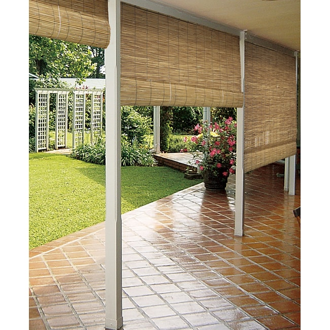 Reed Natural Outdoor Roll Up Blind 13939128 Overstock