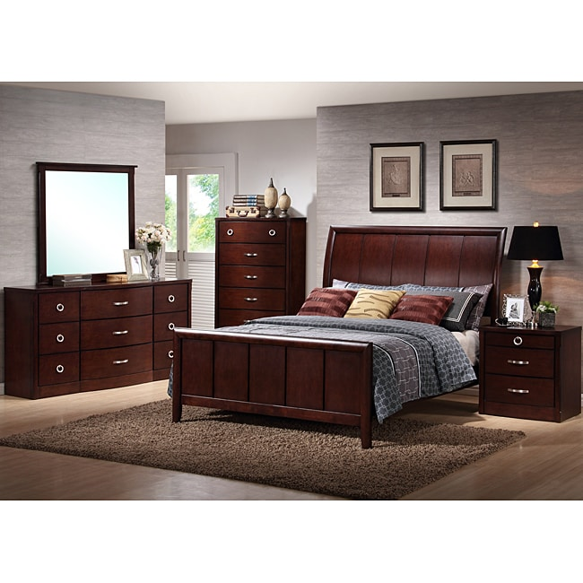 argonne queen size 5 piece modern bedroom set 13941079 shopping big. Black Bedroom Furniture Sets. Home Design Ideas
