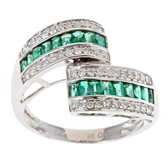 Anika And August D'Yach 14k White Gold Zambian Emerald And