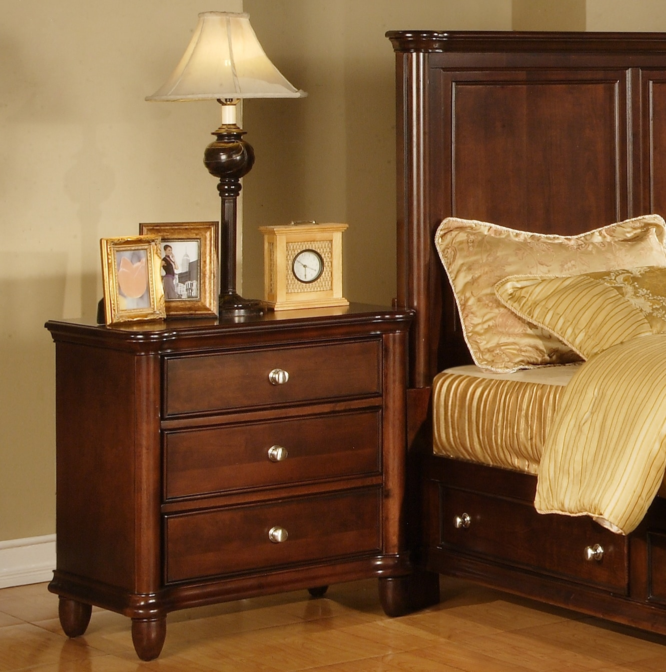 Hawthorne 3 drawer nightstand overstock shopping great - Hawthorne bedroom furniture collection ...