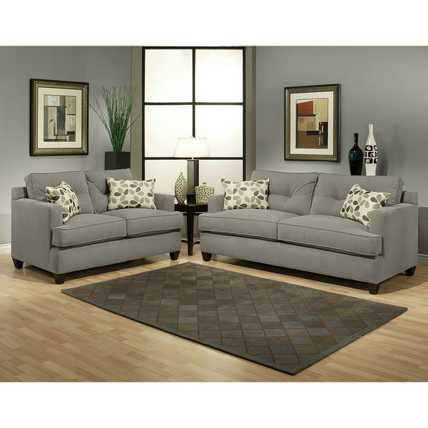 Furniture Of America Living Room Collections: Furniture Of America Nicolas 2-piece Micro-Denier Fabric