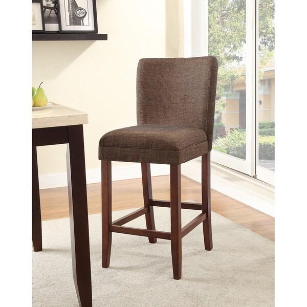 Homepop Upholstered Parson Barstool 13955276 Overstock