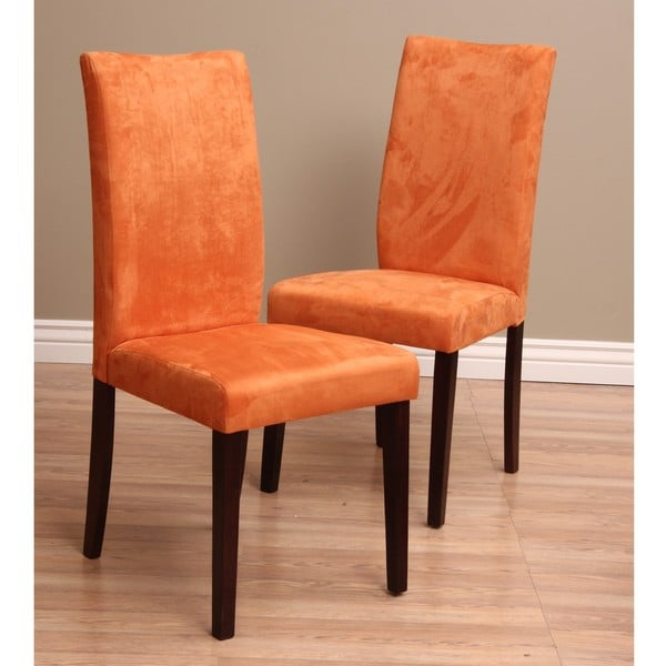Overstock Dining Room Chairs: Warehouse Of Tiffany Shino Orange Dining Chairs (Set Of 2