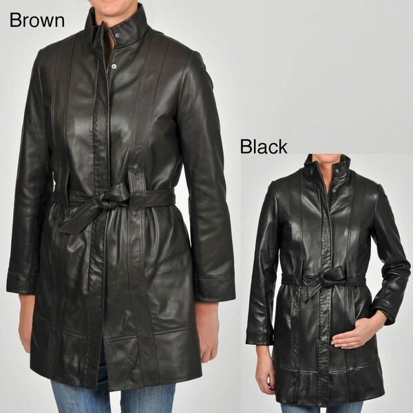 301d798fc0bb3 Knoles   Carter Womens Belted Leather Jacket ™ Shopping on PopScreen