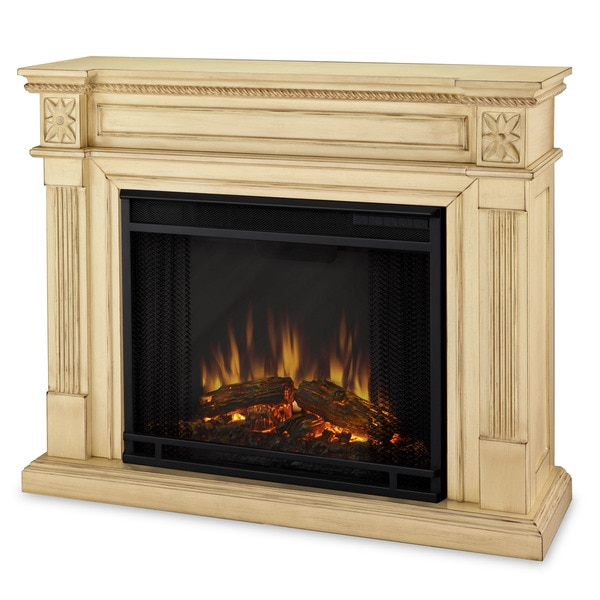 Real Flame Elise Antique White Electric Fireplace