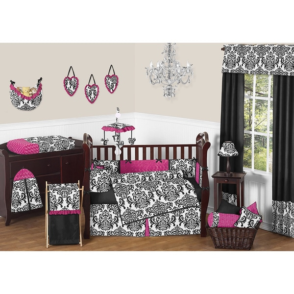 Sweet Jojo Designs Isabella Pink 9 Piece Crib Bedding Set