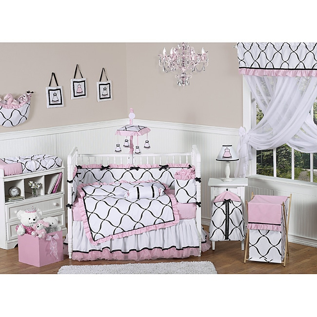 Sweet Jojo Designs Pink Black And White Princess 9 Piece