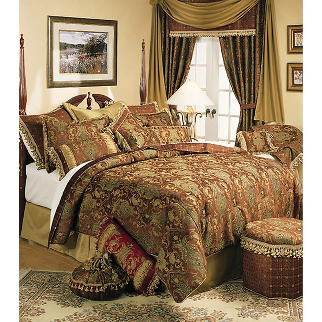 Sherry Kline China Art Brown Cal King Size 6 Piece