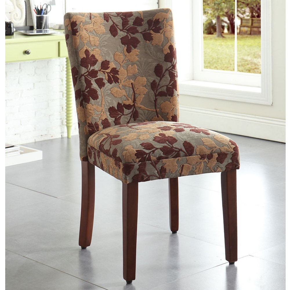 Kitchen Chair Designs: Upholstered Dining Chair Parsons Armless Brown Design