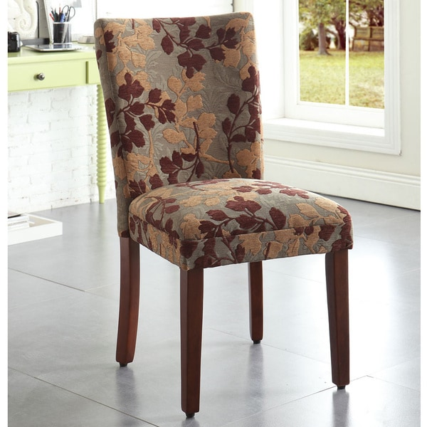 Dining Room Chairs Fabric: HomePop Classic Sage Leaf Pattern Fabric Dining Chair