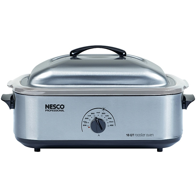 Nesco 4818 25 20 18 Quart Stainless Steel Roaster Oven