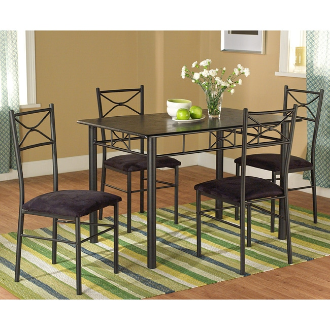 metal dining room sets | Valencia Metal Dining Set 5 Piece Table Chairs Room ...