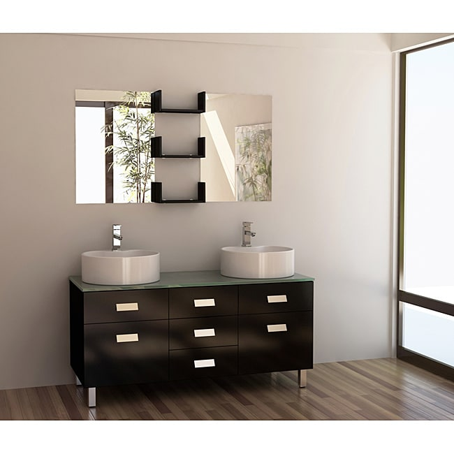 Design Element Wellington 55-inch Double Sink Bathroom ...