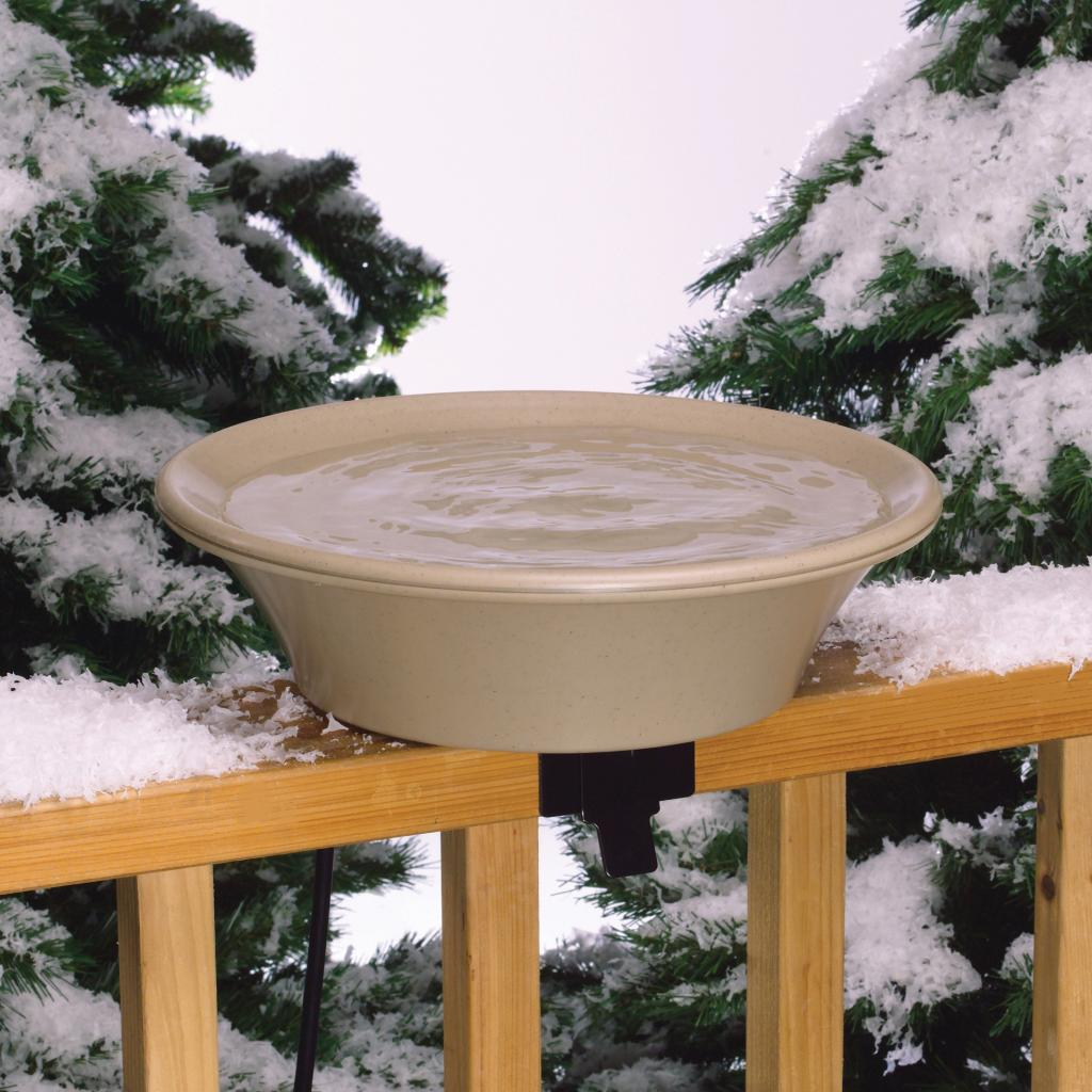 Heated Bird Bath With Ez Tilt Deck Mount And Pole
