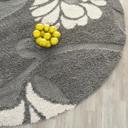 Safavieh Ultimate Dark Grey Beige Shag Rug 6 7 Round