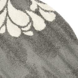 Safavieh Ultimate Dark Grey Beige Shag Rug 6 7 Round