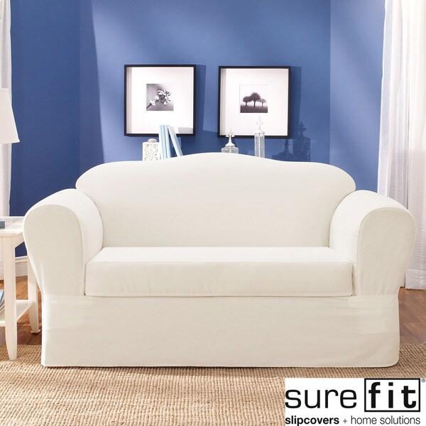 Sure Fit Twill Supreme 2 Piece Sofa Slipcover 13993275