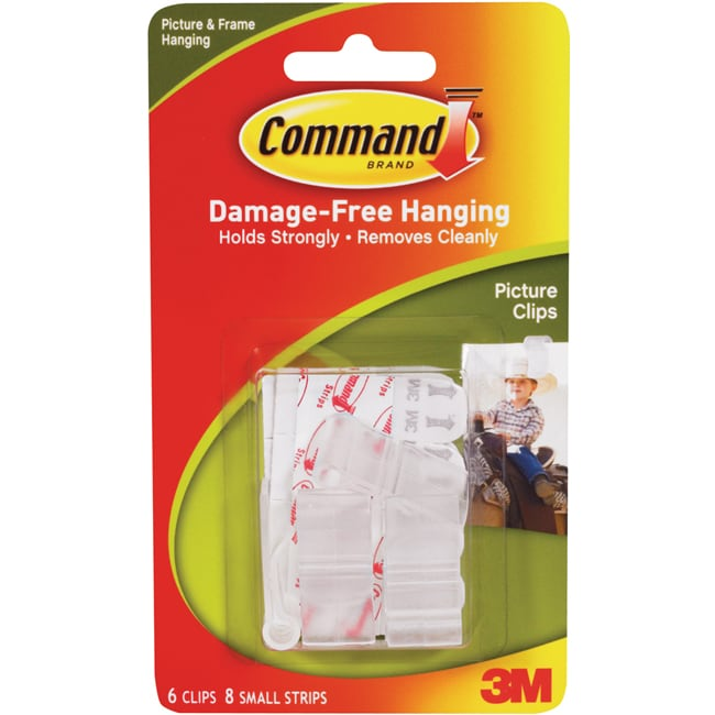 online store a3eec 3a127 3m Command White Picture Clips With Strips