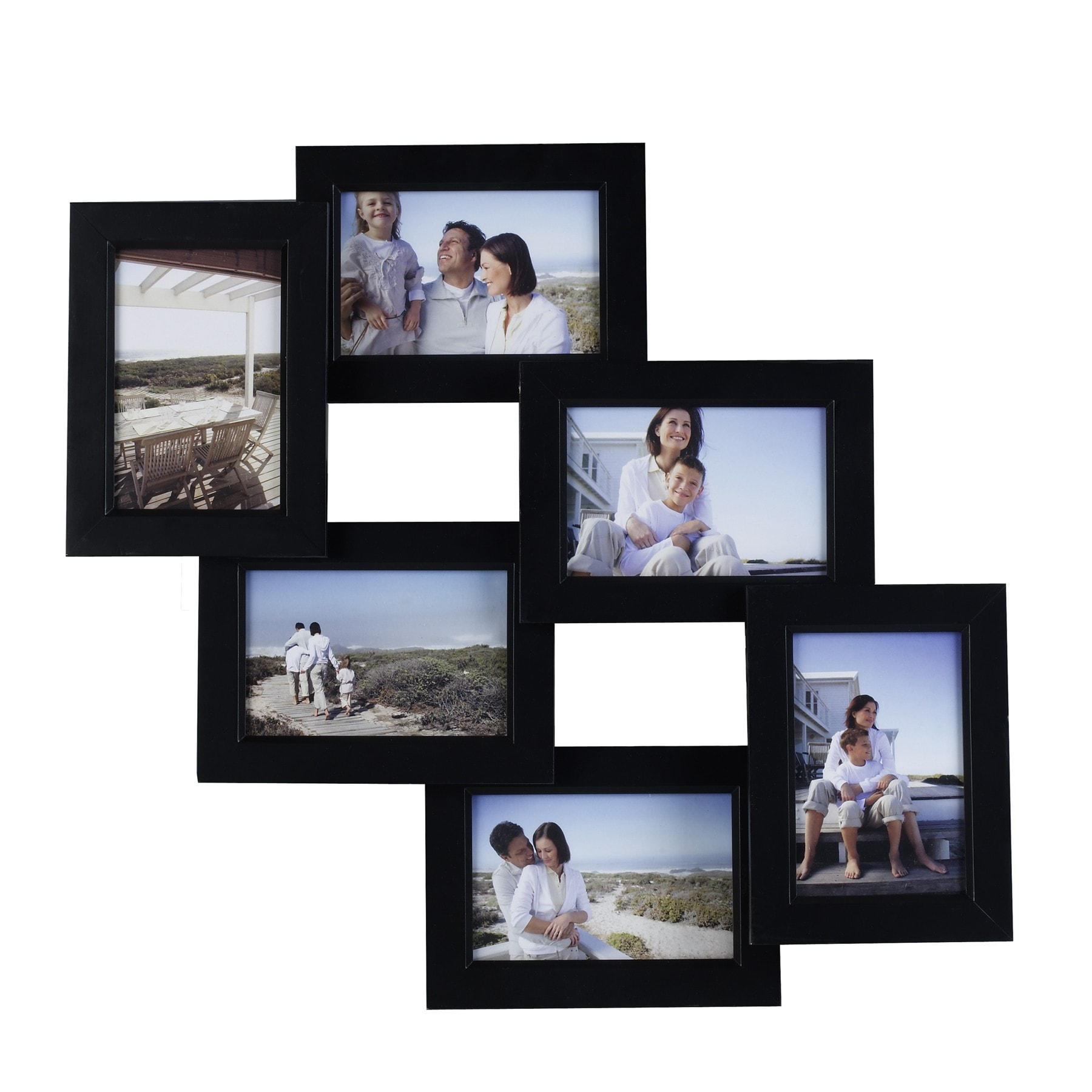 mellanco 6 photo black collage frame 13996002 shopping great deals on photo. Black Bedroom Furniture Sets. Home Design Ideas