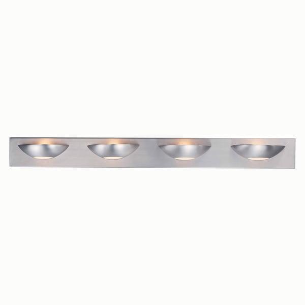 Halogen Bathroom Lights: Triarch International Halogen Brushed Steel 4-light