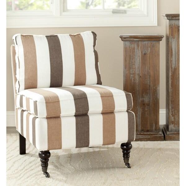 Safavieh En Vogue Dining Matty Black And White Striped: Safavieh Bosio Stripe Armless Club Chair