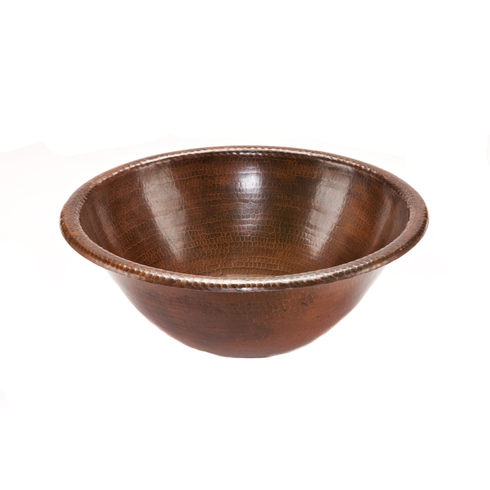Premier Copper Products Round Self Rimming Hammered Copper