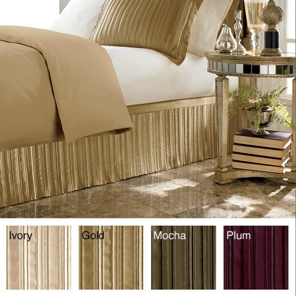 Luxury Pleated Satin 15 Inch Drop Bedskirt 14010427