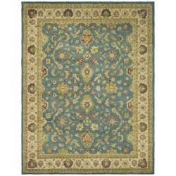 Safavieh Handmade Jaipur Blue/ Beige Wool Rug - 6' x 9' - Thumbnail 0