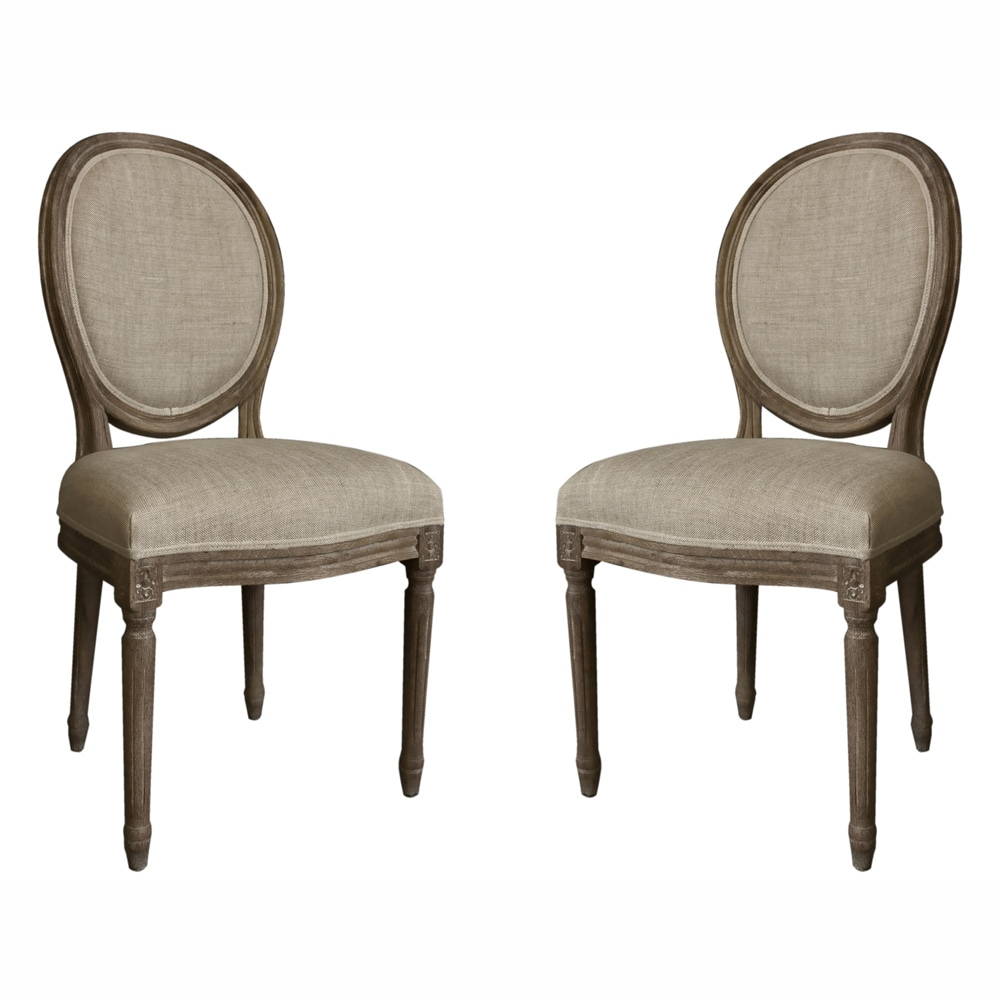 Round Back Dining Room Chairs: NuLOOM Casual Living Vintage French Round Back Upholstered