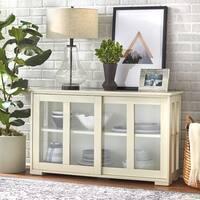 Simple Living Glass Door Stackable Cabinet - 25 x 42 x 14