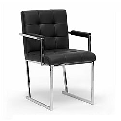 Modena Modern Black Leather Accent Chair 15267937
